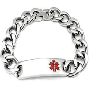 Women's Stainless Steel Medical Alert Chain Bracelet