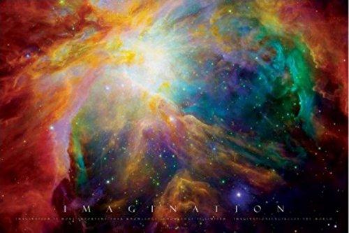 Set: Motivazione, Imagination, Galassia Nebulosa Poster Stampa (91x61 cm) e 1x Poster da Collezione 1art1®