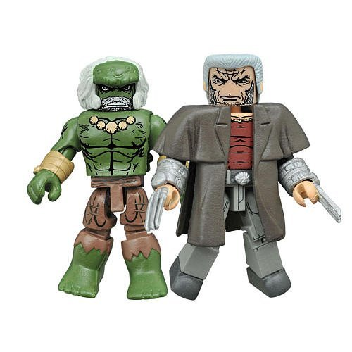Marvel Minimates Secret Wars-Wastelands Wolverine & Dystopia Hulk (Marvel Universe Old Man Logan compare prices)