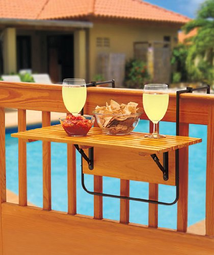 Folding Deck Table - Natural (Patio Furniture Small Space compare prices)