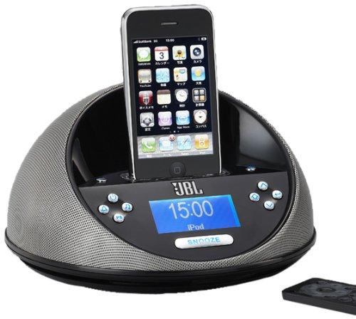 【アウトレット品】 JBL FM/AMチューナー付 iPhone/iPod用スピーカー ONTIMEMICRO ブラック ONTIMEMICROBLKJ