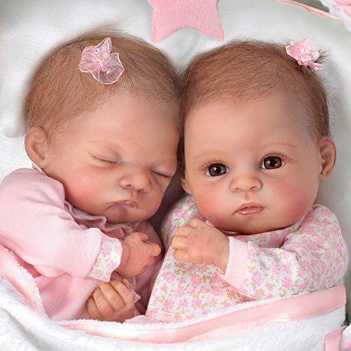 Waltraud Hanl Lifelike Lullaby Twins Baby Girl Doll Set