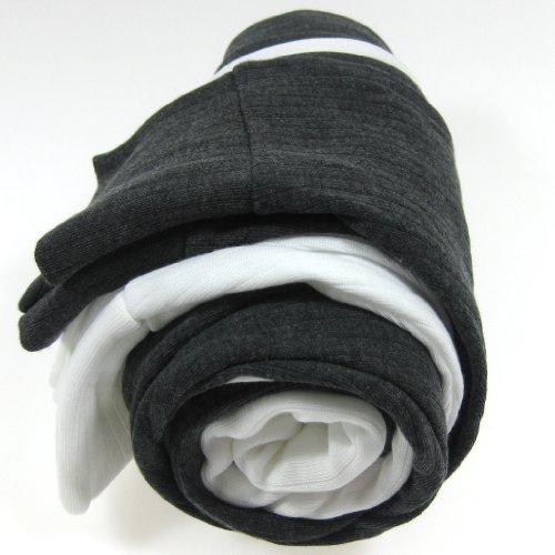 FTD - Kids Unisex (UK Made) Thermal Underwear Long John Leggings Set (Pack of 2) - Two colours Grey & White