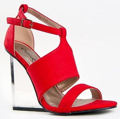 qupid burton 01 clear lucite wedge heel open