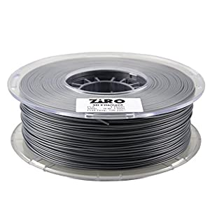 ZIRO 3D Printer Filament PLA 1.75 1KG(2.2lbs), Dimensional Accuracy +/- 0.05mm, Silver from ZIRO