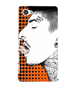 Man Smoking Art 3D Hard Polycarbonate Designer Back Case Cover for Sony Xperia Z5 Compact :: Sony Xperia Z5 Mini