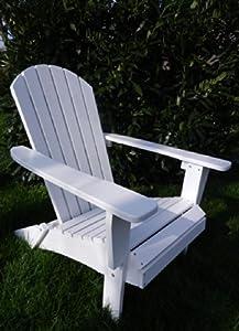 Adirondack chair stuhl holz wei gartenm bel gartenstuhl for Weisse holztische