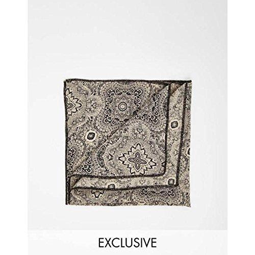 (リクレイム ヴィンテージ) Reclaimed Vintage メンズ アクセサリー ハンカチ Print Pocket SquareBlack NoSize [並行輸入品]