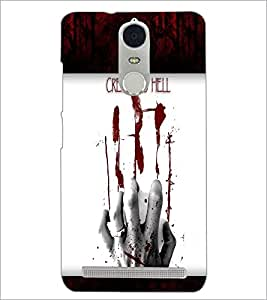 PrintDhaba Blood Hand D-4763 Back Case Cover for LENOVO K5 NOTE (Multi-Coloured)