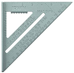 Irwin Tools 1794464 7-Inch Aluminum Rafter Square