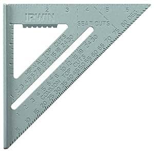 IRWIN Tools Rafter Square, Aluminum, 7-Inch (1794464)
