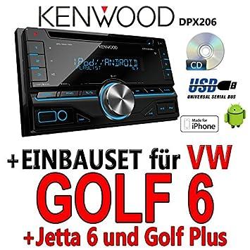 Kenwood-vW golf 6 dPX 206-2DIN uSB avec kit de montage