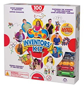 ZOOB 0Z11100 Moving Mind-Building Inventor's Kit, Assorted Colors, 100-Pieces by Zoob