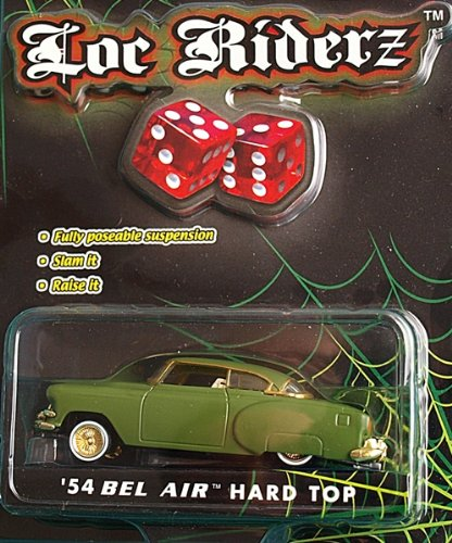 Loc Riderz '54 Bel Air Hard Top, Green, 1:64