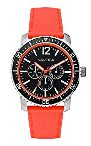 Nautica Men's Quartz Watch A15642G with Rubber Strap