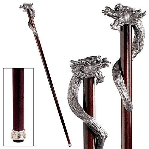 Design Toscano Staff of St. George Pewter Walking Stick