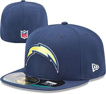 NFL Mens San Diego Chargers On Field 5950 Navy Game Cap By New Era by New Era
