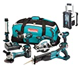 Makita 18V LXT Li Ion DK18027 6 Piece Kit And BMR100W White Job Site Radio