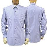 MOSCHINO モスキーノ メンズ 長そで ドレスシャツ ホワイト(白)/ブルー(青)ネックサイズ:40/41/43(mos_m241206)