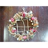 Pine&Apple With Berryleaf BIG Wreath/森の恵みが満載!!林檎と松ぼっくりの自然派リースBIGサイズ