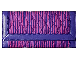 Vera Bradley Women\'s Trifold Wallet Impressionista Stripe/Violet Clutch