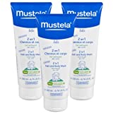 Mustela 2 in 1 Hair & Body Wash 6.76 Ounce, 3 Pack