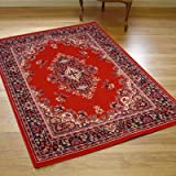 New Traditional Vegas Rug In Red