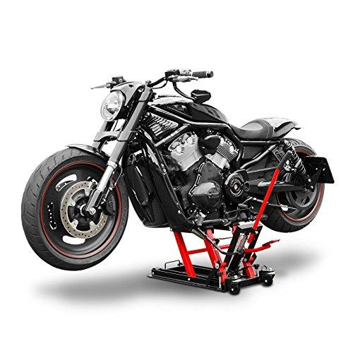 Ponte sollevatore moto constands mid lift l nero rosso per for Sollevatore harley