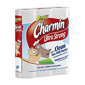 Charmin Ultra Strong Toilet Paper 9 Large Rolls (Pack of 5)