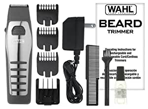 wahl 9876 536 rechargeable cordless beard trimmer beauty. Black Bedroom Furniture Sets. Home Design Ideas
