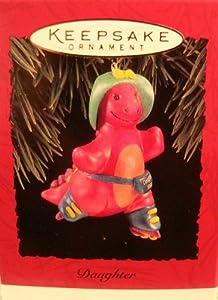 "Purple Dinosaur Girl on Roller Skates ""Daughter"" Christmas Ornament - Hallmark Keepsake 1994 Series"