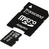 Transcend 4 GB Class 4 microSDHC Flash Memory Card TS4GUSDHC4