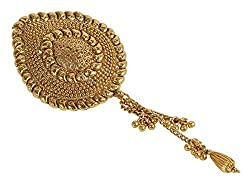 Beautiful South Indian Style Antique Gold Hair Pin For Women Jewelry