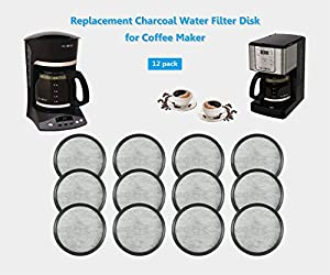 12-Replacement Charcoal Water Filters for Mr. Coffee Machines