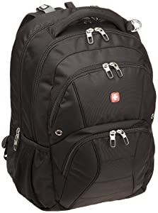 SwissGear ScanSmart Laptop Computer Backpack SA1908 (Black) Fits Most 17 Inch Laptops