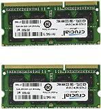 Crucial 8GB Kit (4GBx2) DDR3/DDR3L 1066 MT/s (PC3-8500)  SODIMM 204-Pin Mac Memory CT2K4G3S1067M