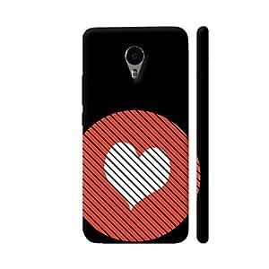 Colorpur Striped Heart Red Designer Mobile Phone Case Back Cover For YU Yunicorn | Artist: Torben