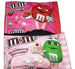 M&M\'s Combo Valentines Pack White Strawberry Shortcake & Strawberry Milk Chocolate
