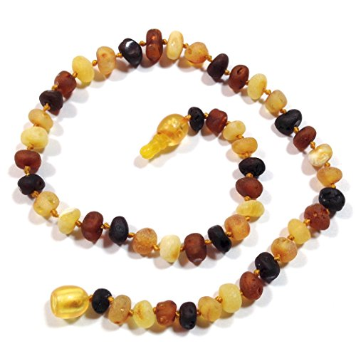 "Hazelaid (TM) 12"" Pop-Clasp Baltic Amber Multicolored Semi-Polish Necklace"