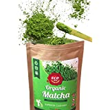 Eco Heed Japanese Matcha Green Tea Powder - USDA & JAS Certified Organic - Superior Culinary Grade - Natural Energy & Focus Booster Packed With Antioxidants. Matcha Tea For Mixing In Lattes, Smoothies & Cooking Recipes (1.05oz)