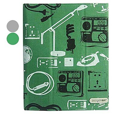 Case For Iphone 4/4S - Premium Leather With Canvas Texture Retro Appliances Pattern Full Body Case With Stand For Ipad 2/3/4 (Optional Colors) ( Color : Green ) front-123322