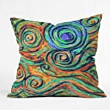 DENY Designs Lisa Argyropoulos Blue Moon Throw Pillow, 18-Inch by 18-Inch