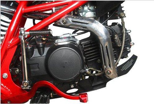 Orion AGB 37 Motocross Motorrad, 125ccm/Viertaktmotor, 14-Zoll-Vorderrad (35,6cm), 12-Zoll-Hinterrad (30,5cm), Höchstgeschwindigkeit ca. 90km/h -