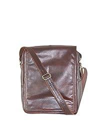 Bagpesa Leather Sling Bag (Brown) (10574)