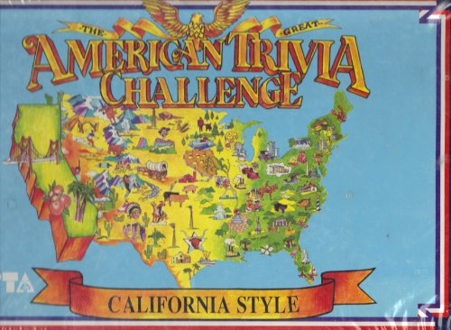 THE GREAT AMERICAN TRIVIA CHALLENGE CALIFORNIA STYLE 1985 BY PEPSI & APPLE COMPUTER