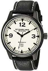 Stuhrling Original Men's 129XL.335566 Aviator Tuskegee Warhawk Automatic Date Black Watch