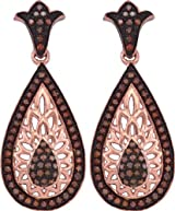 Brown Diamond Earrings 10k Rose Gold