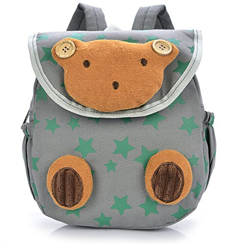 Pumud Baby Toddler Child Kid 3D Cartoon Backpack Schoolbag Shoulder Bags (Grey) - 1
