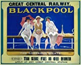 Vintage Travel BLACKPOOL Lancashire for GORGEOUS SIGHTS with GREAT CENTRAL RAILWAY 250gsm ART CARD Gloss A3 Reproduction Poster