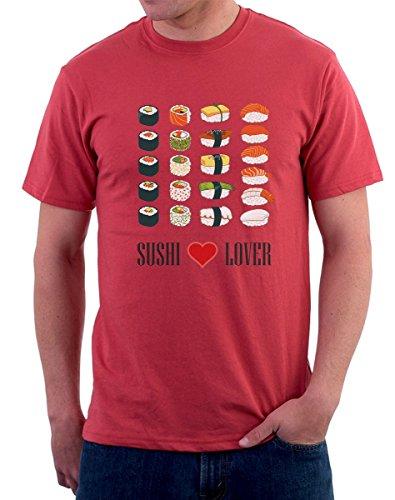 t-shirt - Sushi lover - sushi mania - tutte le taglie uomo donna maglietta by tshirteria